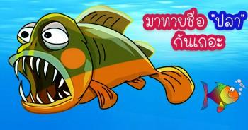มาทายชื่อ ปลา กันเถอะ