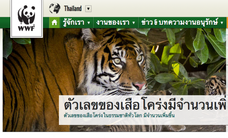 WWF องค์กรอิสระเพื่อการอนุรักษ์ธรรมชาติ