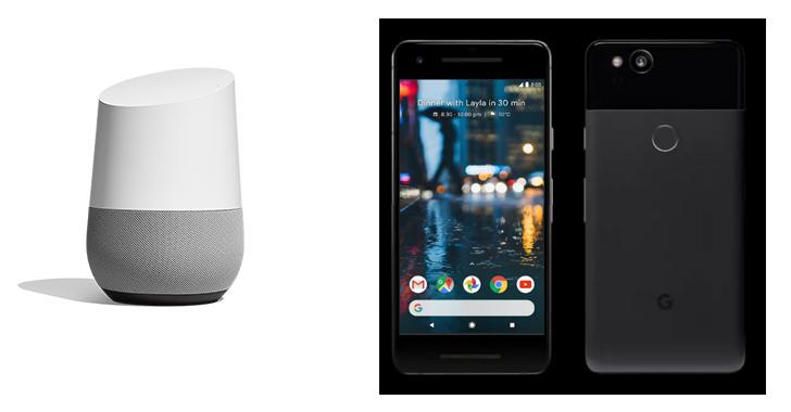 ลำโพง Google Home และมือถือ Google Pixel