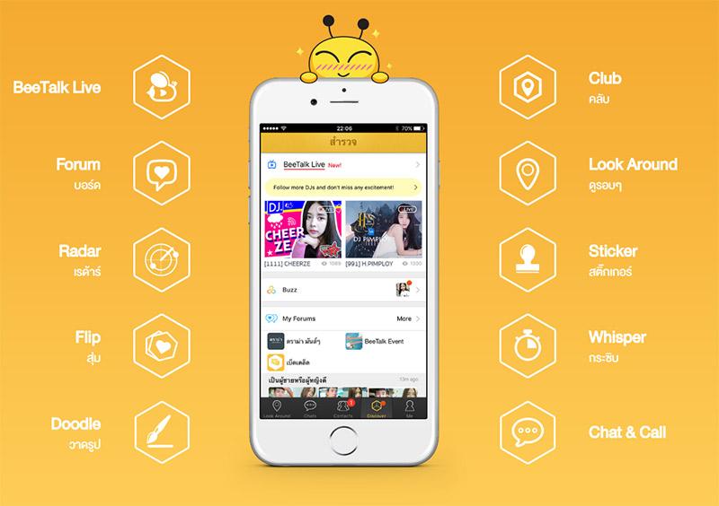 BeeTalk ถือเป็นแอพพหาคู่ยอดนิยมอันดับ 1 ในเมืองไทย ณ ปี 2018
