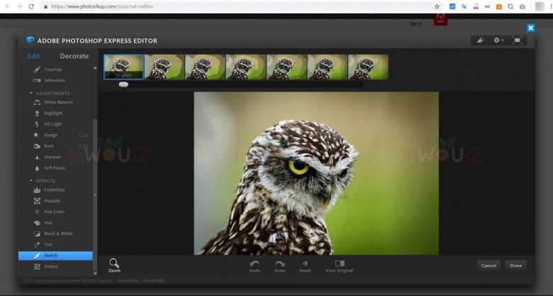 เว็บแต่งรูปออนไลน์ Photoshop Express Editor