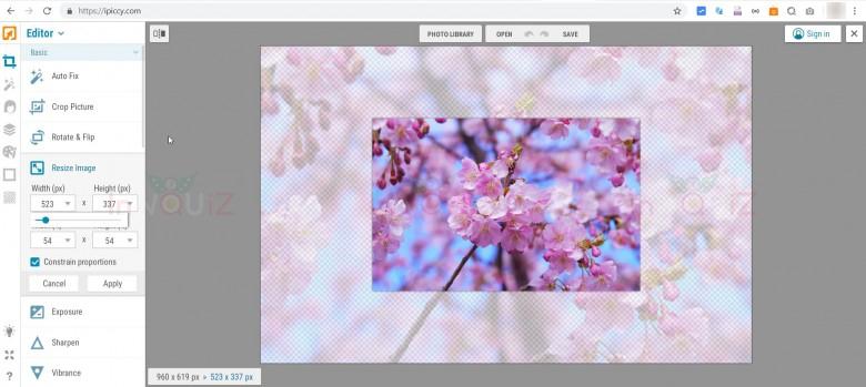 เว็บแต่งรูปออนไลน์ ipiccy.com