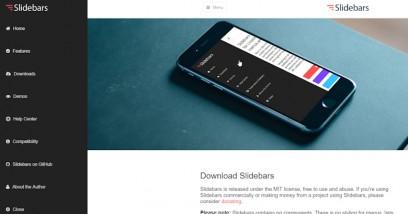 การทำ sidebar menu แบบ responsive menu ด้วย Slidebars jQuery plugin  สุดแจ่ม