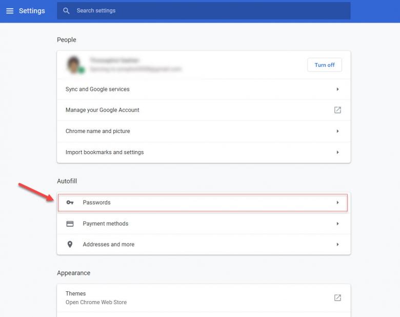 การลบรหัสผ่านหรือ Password ที่บันทึกไว้ออกจาก Google Chrome