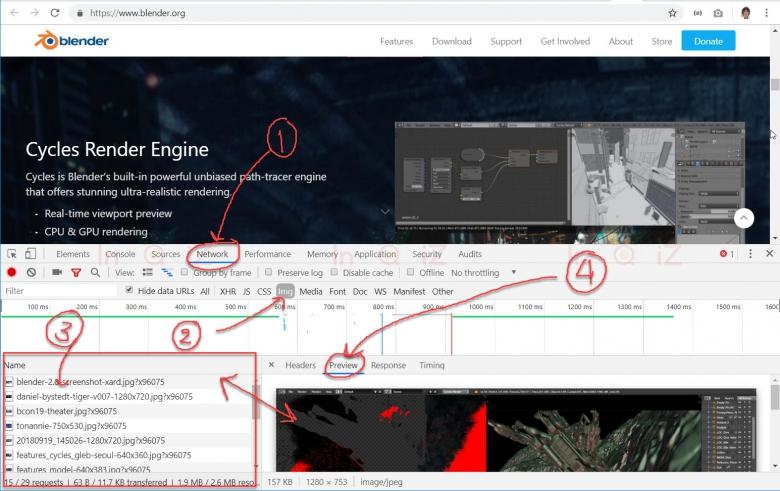 ใช้ Developer tools ใน google chrome save รูปภาพบนเว็บไซต์ที่ห้ามคลิกขวา