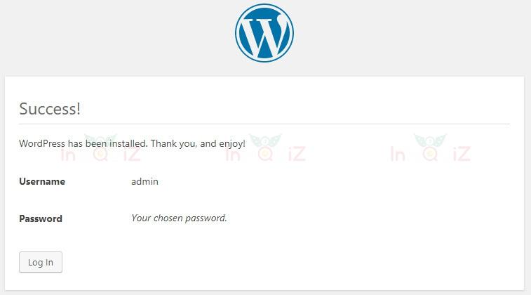 ติดตั้ง WordPress สำเร็จ