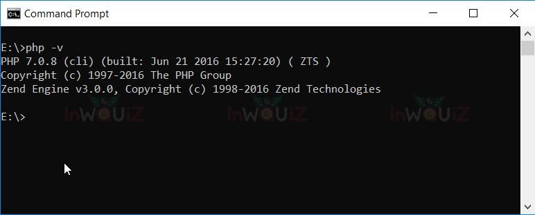 วิธีเช็ค-php-version ผ่าน Command Prompt หรือTerminal