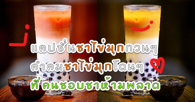 แคปชั่นชาไข่มุกกวนๆ คำคมชานมไข่มุกฮ่าๆที่คนชอบชาห้ามพลาด