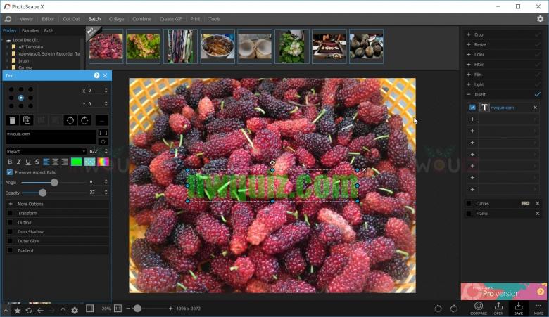 วิธีใส่ลายน้ำให้รูปภาพหลายรูปในครั้งเดียวด้วย PhotoScape X