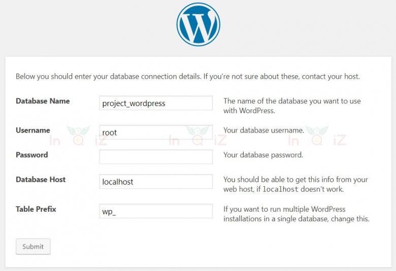ขั้นตอนการติดตั้ง WordPress