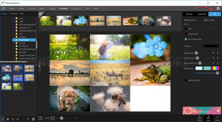 รวมไฟล์ jpg หลายๆรูปเป็นไฟล์ jpg ไฟล์เดียวแบบ tile