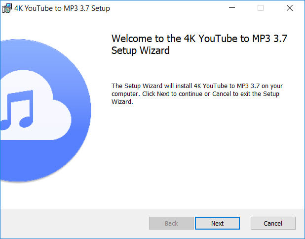 ติดตั้ง 4K YouTube to MP3