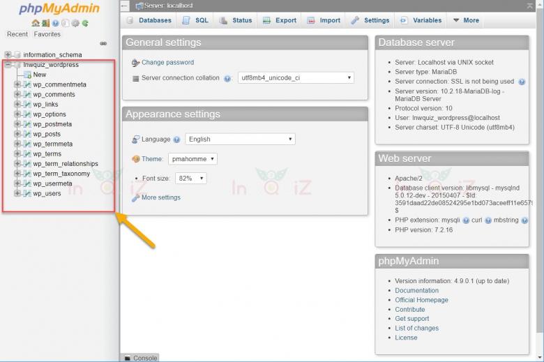 โครงสร้าง Database ของ WordPress