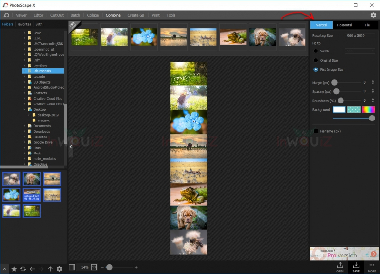 รวมไฟล์ jpg หลายๆรูปเป็นไฟล์ jpg ไฟล์เดียวแบบแนวตั้ง