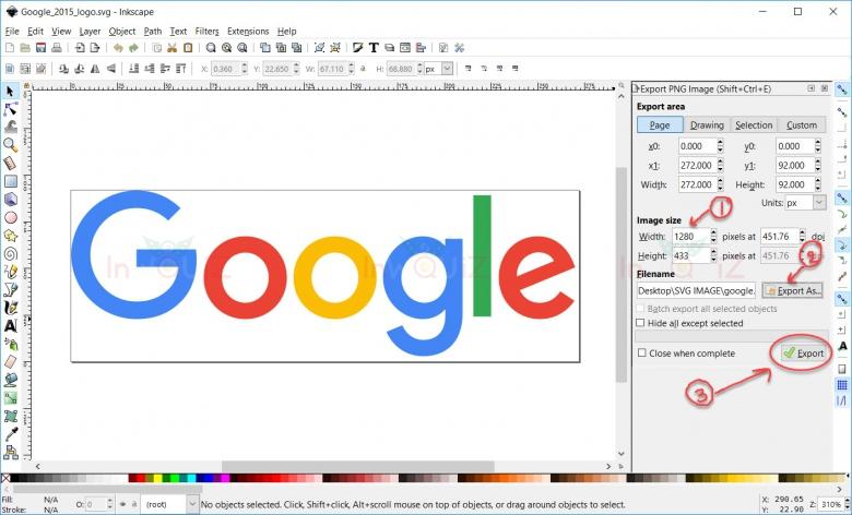 ปรับแต่งค่าการแปลงไฟล์รูป SVG เป็น PNG