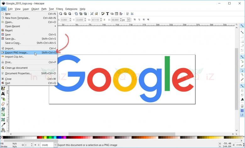 แปลงไฟล์รูป SVG เป็น PNG ด้วยโปรแกรมInkscape
