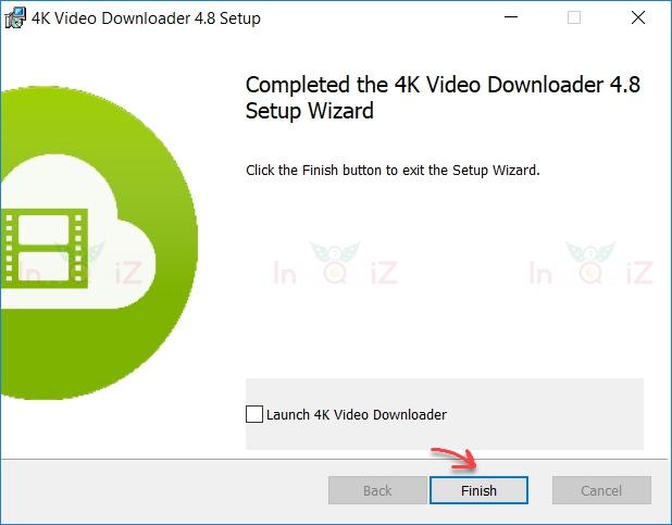 หน้าจอแสดงผลการติดตั้งว่าโปรแกรม 4K Video Downloader ติดตั้งเรียบร้อยแล้ว