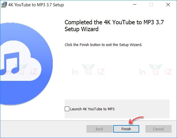 ติดตั้ง 4K YouTube to MP3 เสร็จเรียบร้อย