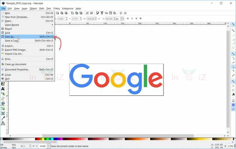 วิธีแปลงไฟล์รูป SVG เป็น PDFด้วยโปรแกรมInkscape