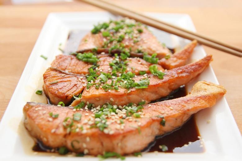 เนื้อปลาย่างอยากกินอ่ะ