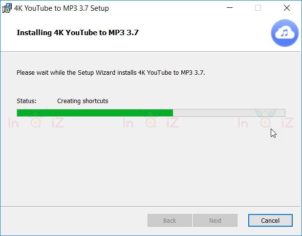 โปแกรม 4K YouTube to MP3 กำลังติดตั้งลงเครื่องคอมพิวเตอร์