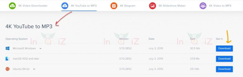 ดาวน์โหลดโปรแกรม4K YouTube to MP3
