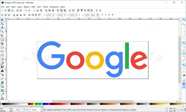 เปิดไฟล์รูป SVG  ด้วย Inkscape