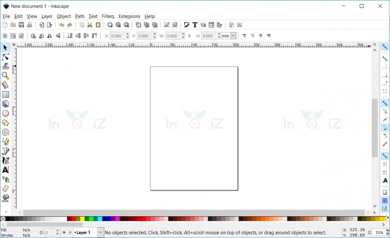 หน้าตาของโปรแกรม Inkscape จะประมาณนี้
