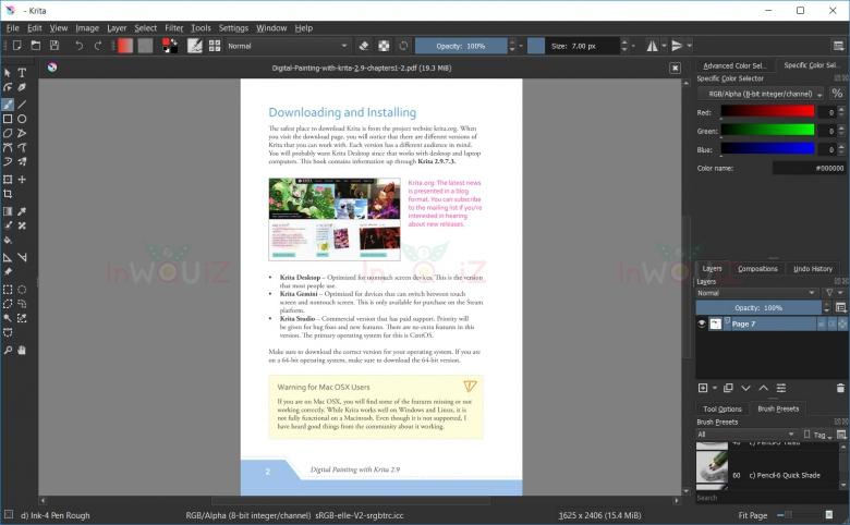 โปรแกรม Kritaเปิดไฟล์ PDF