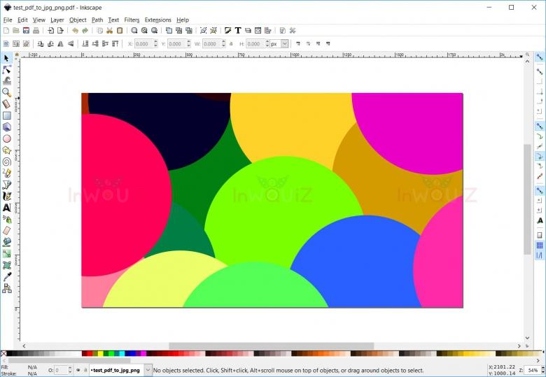 โปรแกรมInkscape จะพรีวิวรูป PDF