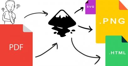 แปลงไฟล์  PDF เป็นรูป PNG ,SVG ด้วยโปรแกรม Inkscape (ฟรี)