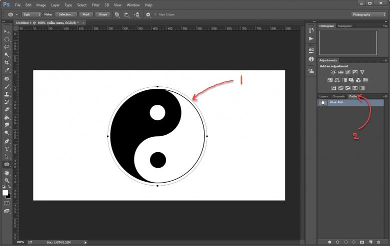 Path ใน Photoshop
