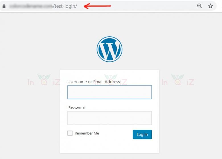 หน้า login ของ WordPress