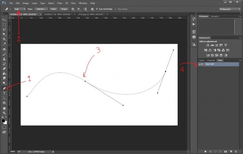 วิธีทำตัวอักษร-ตัวหนังสือโค้งด้วย Path Tool