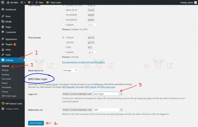 ตั้งค่าปลั๊กอินWPS Hide Login เพื่อเปลี่ยนURL login หน้า Admin ของ WordPress