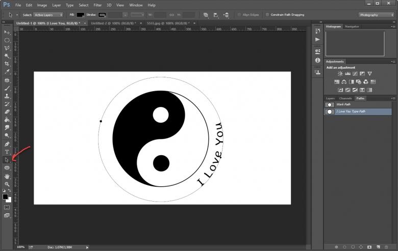 วิธีทำตัวอักษร-ตัวหนังสือโค้งๆอย่างอิสระขั้นเทพใน Photoshop