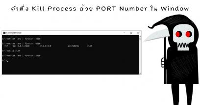 คำสั่ง Kill Process ด้วย PORT Number ใน Window ใช้คำสั่งอะไร